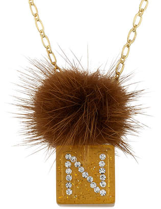 Little Miss Twin Stars Mileez Chain Necklace Accented With Initial