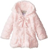 Widgeon Hooded Faux Fur Coat (Baby) - Candy Dot Pink-18 Months