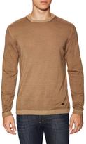 Armani Collezioni Wool Ribbed Crewneck Sweater