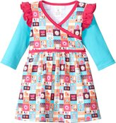 Zutano Tiny Town Dress (Toddler/Kid)-Multicolor-4T