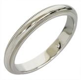 Tiffany & Co. Platinum Milgrain Wedding Band Size 8 Ring