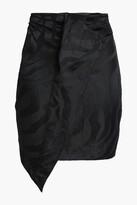 Thumbnail for your product : CARMEN MARCH Wrap-effect Linen-blend Jacquard Mini Skirt
