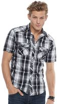 Rock & Republic Men's Plaid Stretch Button-Down Shirt
