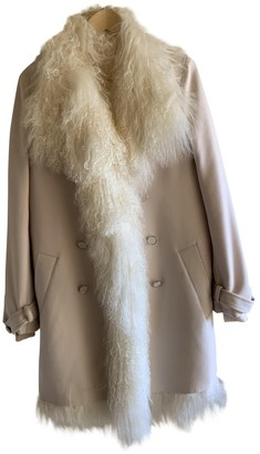 Vanessa Bruno Beige Fur Coat for Women