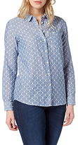 Lee One Pocket Patterned Shirt, Faded Blue
