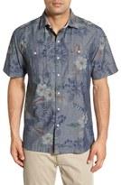 Tommy Bahama 'Indigo Tropical Riviera' Island Modern Fit Floral Print Sport Shirt