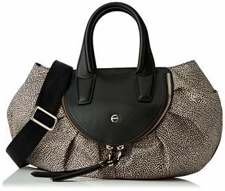 Borbonese Women's 954888X96 Top-Handle Bag Brown Brown (OP NATURALE/NERO X11)