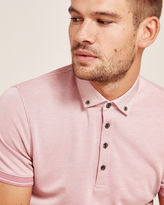 Ted Baker Contrast trim Oxford polo shirt