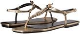 Roberto Cavalli Bianca Laminated Goatskin Sandal