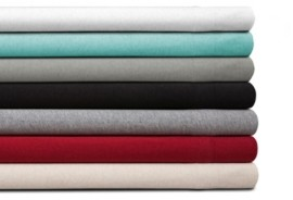 Spectrum Home Organic Cotton Jersey Red Twin Sheet Set Bedding
