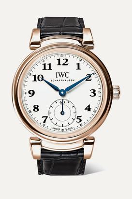 IWC SCHAFFHAUSEN - Da Vinci Automatic 40mm 18-karat Red Gold And Alligator Watch