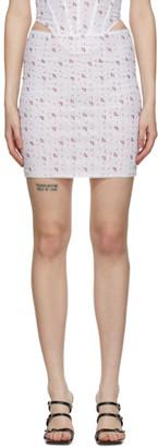 Miaou Pink Mesh Moni Miniskirt