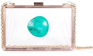 Christina Greene Agate Game Day Clutch Turquoise