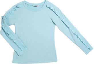 Habitual Amira Terry Knit Ruffle-Trim Long-Sleeve Top, Size 7-14