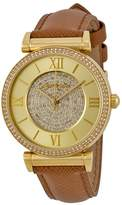 Michael Kors Micahel Kors #MK2375 Women's Catlin Tone Crystal Pave Leather Band Watch