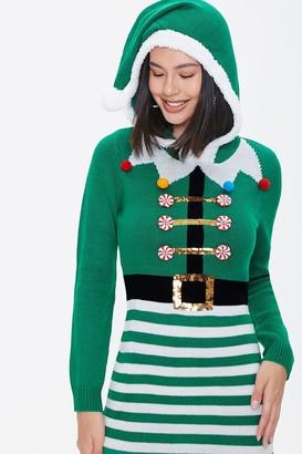 Forever 21 Elf Knit Sweater Dress