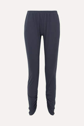 Eberjey Romy Camp Ruched Pima Cotton-jersey Pajama Pants - Navy