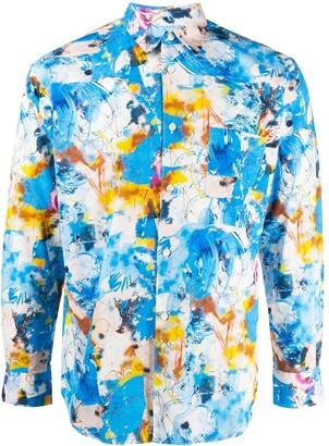Comme des Garçons Shirt Abstract Print Long-Sleeved Shirt