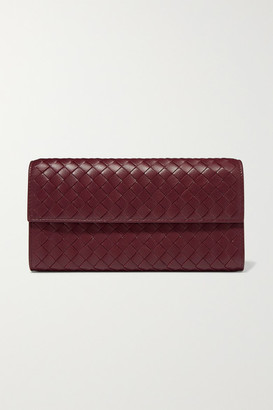 Bottega Veneta Intrecciato Leather Continental Wallet - Burgundy