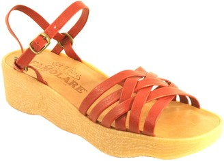 Famolare Get There Leather Wedge Sandal - Strappy Camper