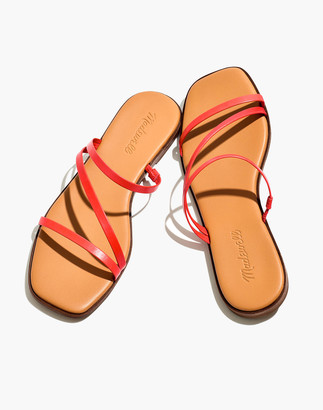 Madewell The Lyra Slide Sandal in Leather