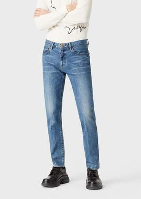 Giorgio Armani Slim-Fit Tapered Jeans In Selvedge Denim