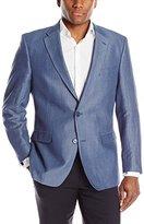Tommy Hilfiger Men's Two Button Herringbone Sport Coat, Grey