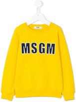 MSGM logo sweatshirt - kids - Cotton - 10 yrs