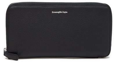 Ermenegildo Zegna Zip Around Leather Travel Wallet