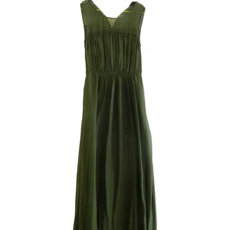 Hallhuber Green Silk Dress for Women