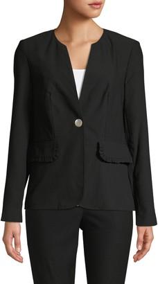 Nanette Lepore Nanette Split Neck Button-Front Jacket