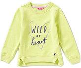 Joules Little Girls 3-6 Wild At Heart Sweatshirt