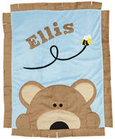 Boogie Baby Peek-a-Boo Bear Plush Blanket, Brown
