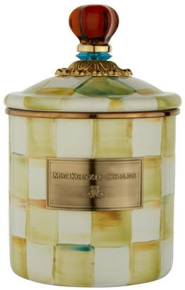 Mackenzie Childs MacKenzie-Childs Small Parchment Check Enamel Canister