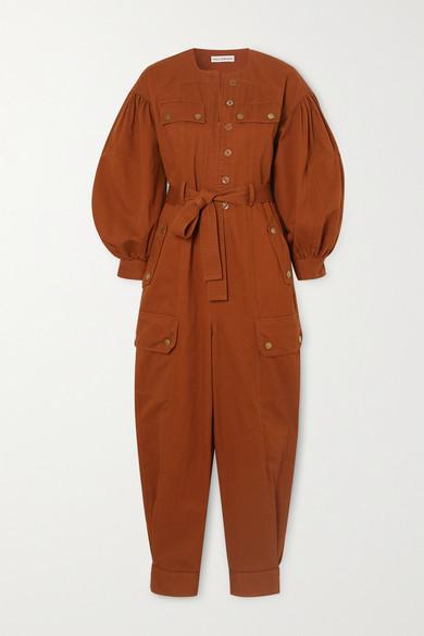 Ulla Johnson Stearling Belted Cotton-twill Jumpsuit - Orange