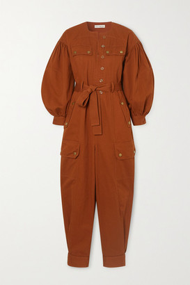 Ulla Johnson Stearling Belted Cotton-twill Jumpsuit - Orange