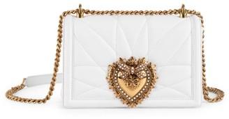 Dolce & Gabbana Medium Devotion Quilted Leather Shoulder Bag