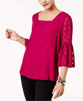 Alfani Ruffled-Sleeve Top, Created for Macy's