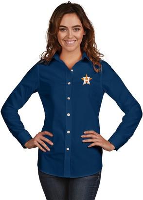 Antigua Women's Houston Astros Dynasty Button-Down Shirt
