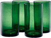 Artland Green Iris Highball Glass - Set of Four