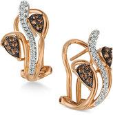 LeVian Le Vian Chocolatier® Diamond Vine Earrings (1/4 ct. t.w.) in 14k Rose Gold