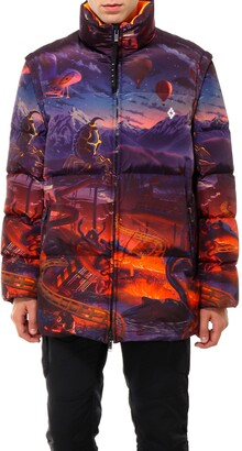 Marcelo Burlon County of Milan Graphic Printed Down Jacket