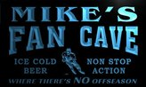AdvPro Name tg105-b Mike's Hockey Fan Cave Man Room Bar Beer Neon Light Sign
