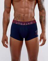Emporio Armani Trunks With Large Logo In Navy