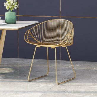 Wrought Studio Roderick Dining Chair Color: Gold