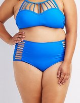 Charlotte Russe Plus Size Braided High-Waisted Bikini Bottoms