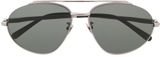 Brioni Top Bar Aviator Frame Sunglasses