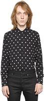 Saint Laurent Polka Dots Print Viscose Shirt
