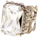 Sorrelli Emerald-Cut Crystal Ornate Ring