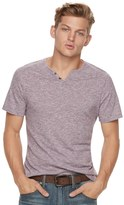 Rock & Republic Big & Tall Textured Notchneck Tee